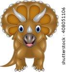 Cartoon Triceratops Isolated O...