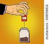 tea bag hand | Shutterstock .eps vector #408058816