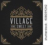 flourish line vintage frame... | Shutterstock .eps vector #408059242