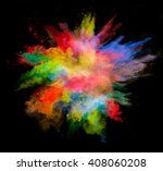 explosion of colored powder on... | Shutterstock . vector #408060208