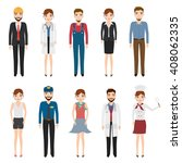 set of people character with... | Shutterstock .eps vector #408062335