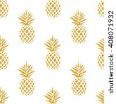 Seamless Summer Gold Pineapple...