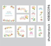 floral spring templates .for... | Shutterstock .eps vector #408082396