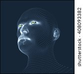 head of the person from a 3d... | Shutterstock .eps vector #408093382