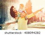 outdoor portrait of a happy... | Shutterstock . vector #408094282