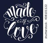 colorful brush lettering.... | Shutterstock .eps vector #408101122