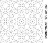 monochrome geometric seamless... | Shutterstock .eps vector #408104602