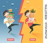 students week concept.... | Shutterstock .eps vector #408107596