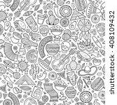 cartoon line art hand drawn... | Shutterstock .eps vector #408109432
