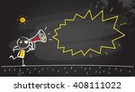 kid shouting  communicating in...   Shutterstock .eps vector #408111022