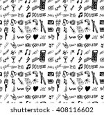 hand drawn seamless doodle... | Shutterstock .eps vector #408116602