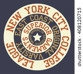 new york brooklyn typography  t ...   Shutterstock . vector #408120715