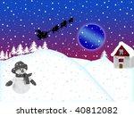 christmas illustration background - stock photo