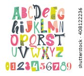 bright creative abc for your...   Shutterstock .eps vector #408122236
