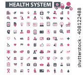 health system icons  | Shutterstock .eps vector #408122488