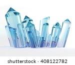 blue and magenta gradient... | Shutterstock . vector #408122782