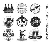 vector craft beer badges.... | Shutterstock .eps vector #408122788