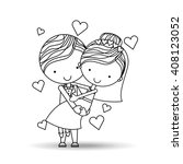 couple relationships design  | Shutterstock .eps vector #408123052