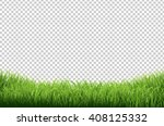 green grass border  isolated on ... | Shutterstock . vector #408125332