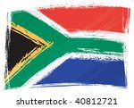 south africa national flag... | Shutterstock .eps vector #40812721