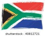 south africa national flag... | Shutterstock .eps vector #40812721