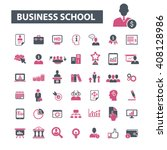business school icons  | Shutterstock .eps vector #408128986
