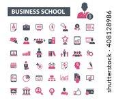 business school icons  | Shutterstock .eps vector #408128986