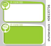 two text frames for your text... | Shutterstock .eps vector #408135736