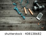 sports equipment and the... | Shutterstock . vector #408138682