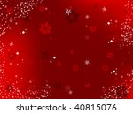 merry christmas background with ... | Shutterstock .eps vector #40815076