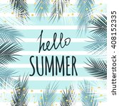 hello summer text quote with... | Shutterstock .eps vector #408152335