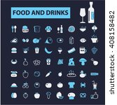 food and drinks icons  | Shutterstock .eps vector #408158482