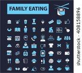 family eating icons    Shutterstock .eps vector #408158896