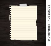 brown lined ripped notebook... | Shutterstock .eps vector #408165736
