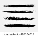 hand painted brush strokes... | Shutterstock .eps vector #408166612