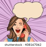 beautiful brunet retro... | Shutterstock .eps vector #408167062