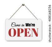 open sign  | Shutterstock . vector #408168256