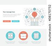 flat line business concept web... | Shutterstock .eps vector #408170752