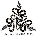 tattoo snake   Shutterstock .eps vector #40817215