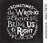 hipster poster. motivational... | Shutterstock .eps vector #408173878