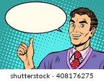 man like retro vector...   Shutterstock .eps vector #408176275