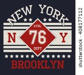 new york  typography fashion  t ... | Shutterstock .eps vector #408177112
