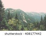 tatra mountain forest  in... | Shutterstock . vector #408177442
