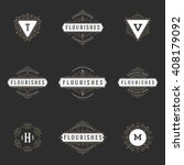 royal logos design templates... | Shutterstock .eps vector #408179092
