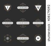 royal logos design templates... | Shutterstock .eps vector #408179092