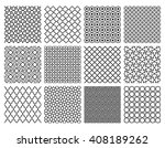 islamic patterns set. seamless... | Shutterstock .eps vector #408189262