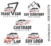 set of suv car service logo... | Shutterstock . vector #408193576