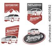 set of suv car labels  emblems  ... | Shutterstock . vector #408193582