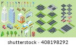 isometric part of the city... | Shutterstock . vector #408198292