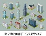 skyscraper logo building icon.... | Shutterstock . vector #408199162